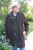 Expresso Suede Brisa Spanish Merino Shearling Coat